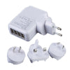 4 USB hub - Travel Charger with Car Adapter & AC Wall Plug