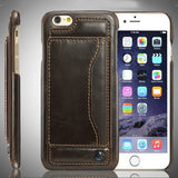 Ultra Slim PU Leather Wallet case for iPhone 6s and 6 plus with Credit Card Slot & Stand