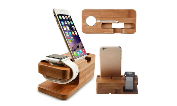 Dual Smartphone And Smartwatch Resting And Charging Dock Stand