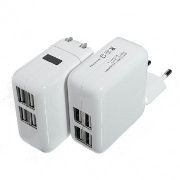 Accessories - 4-Ports USB Power Adapter Travel Charger
