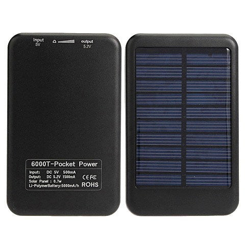 Accessories - 5000mah Portable Battery Solar Power Bank