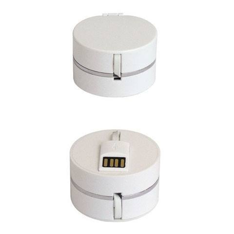 Accessories - Round Box Single Pull Retractable USB Cable
