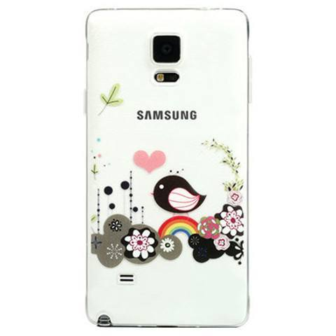 Accessories - TPU Flower Clear Case For Samsung Note 4