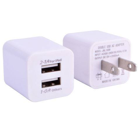 Accessories - USA Plug 1A Dual 2-Ports USB Wall Charger