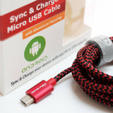 Accessories - USB 2.0 A TO MICRO B BRAIDED CABLE, 6'