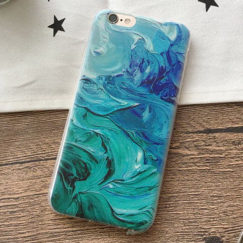 Art Printed Soft Silicone Case for iPhone 6/6s/7/7plus