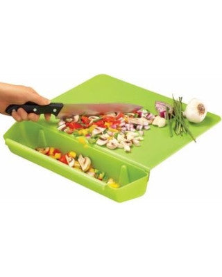 Cutting Board with Detachable Slot For Scraps/ Chopped Vegetables
