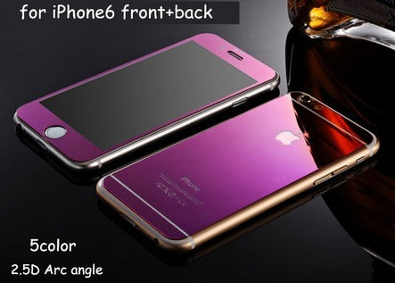 Electronics - Mirrored Front And Back Tempered Glass Protector For IPhone 6