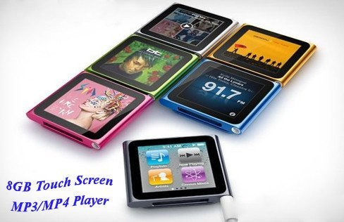Electronics - Touch Screen 8GB MP3/MP4 Player