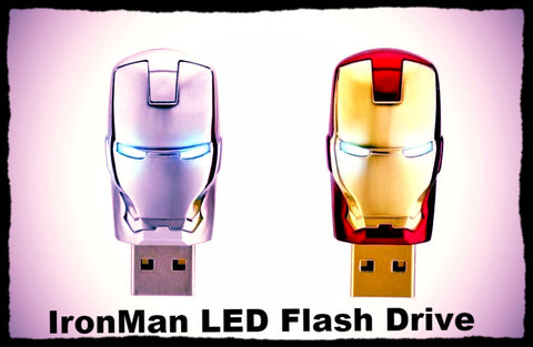 16GB Or 32GB Fashion Avengers Iron Man LED Flash USB