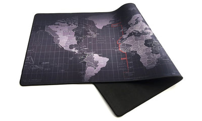 Retro world map full desk coverage gaming and office mouse pad gumiabroncs Image collections
