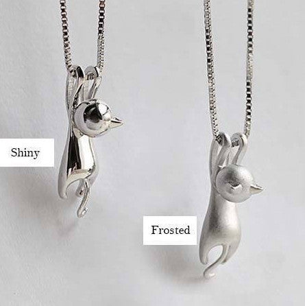 Silver Kitty Necklace