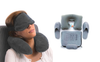 4-Pcs Travel Sleeping Kit (Pillow, Slippers, Eye mask and Ear plugs)