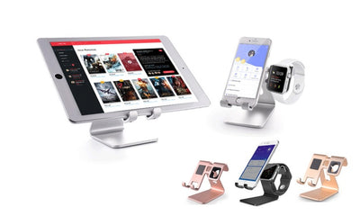 3-in-1 Aluminium Tablet, Phone And Smart Watch Charging Dock And Cradle Stand