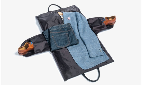 2-in-1 Convertible Garment Bag And Tote Bag : Suit Carrier Bag