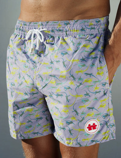 Flat Out Swim Trunks (Mens) : Lilac