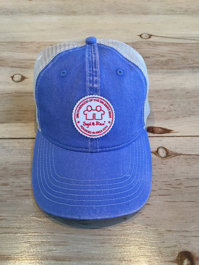 BH Badge Trucker Cap (Flo Blue/Ivory)