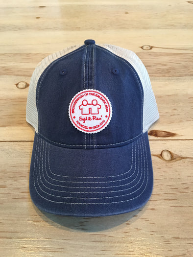 BH Badge Trucker Cap (Navy/Ivory)