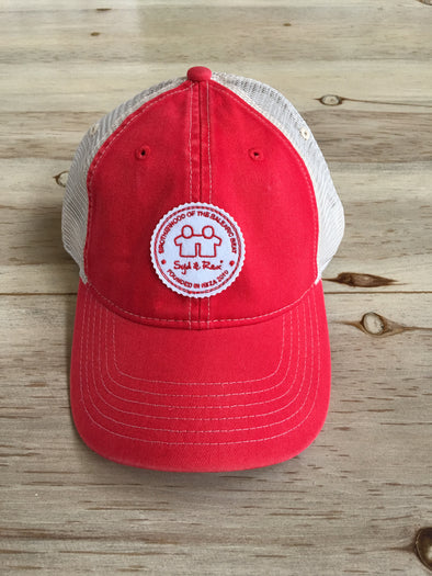 BH Badge Trucker Cap (Red/Ivory)
