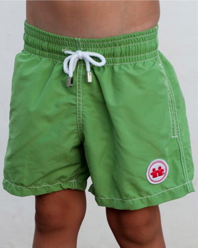 Solid Rock Swim Trunks (Boys) : Green