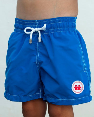 Solid Rock Swim Trunks (Boys) : Royal