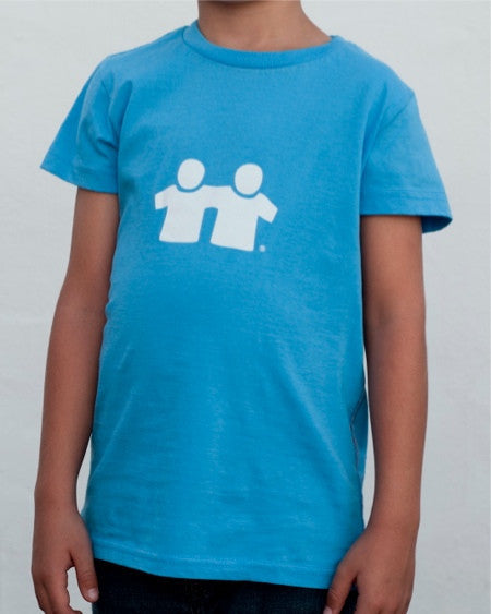 Icon Fill T-Shirt (Boys) : Blue/White