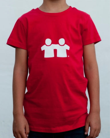 Icon Fill T-Shirt (Boys) : Red/White