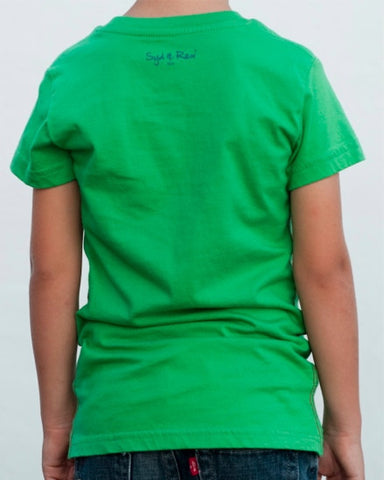 Island T-Shirt (Boys) : Kelly Green / Denim