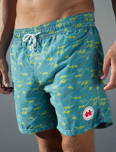 Flat Out Swim Trunks (Mens) : Green