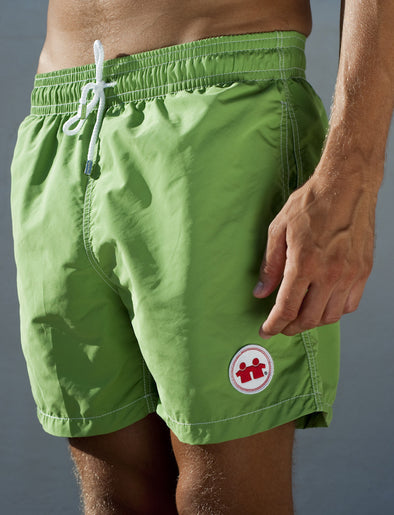 Solid Rock Swim Trunks (Mens) : Green
