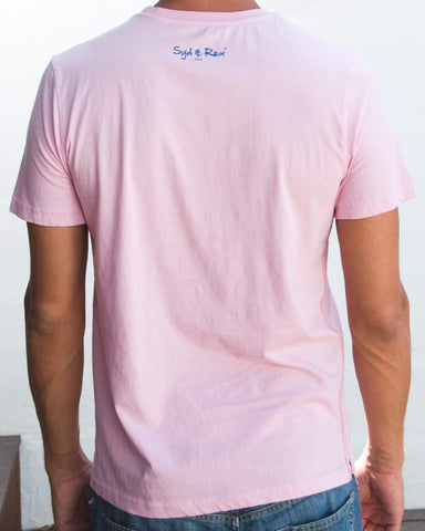 Island T-Shirt (Mens) : Pink / Denim