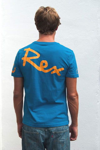 Signature Wrap T-Shirt (Mens) : Denim