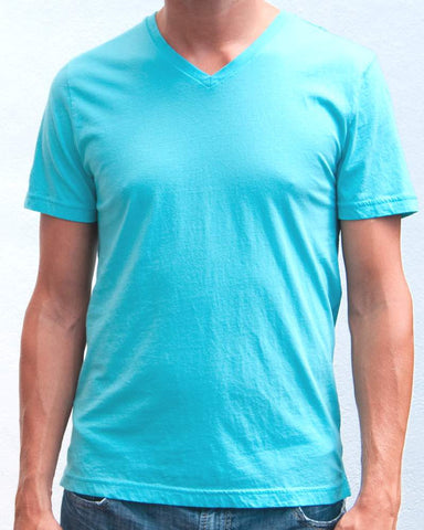 Ibizentials V-Neck T Shirt (Mens) : Turquoise