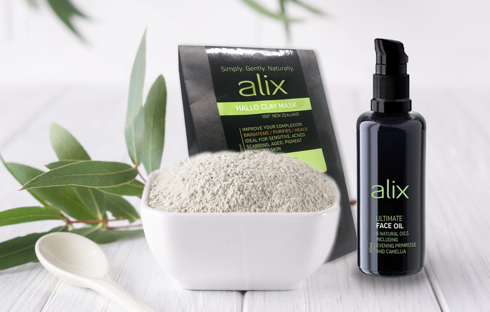 ALIX HALLO CLAY MASK +ALIX ULTIMATE FACE OIL