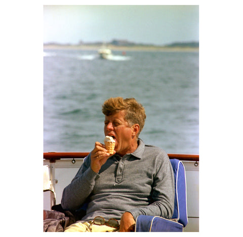 Cecil Stoughton – JFK with Ice Cream