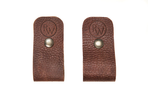 Supports en cuirs pour pagaie|Canoe paddle leather hangers