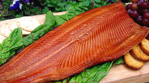 Atlantic salmon hot smoked, catch weight