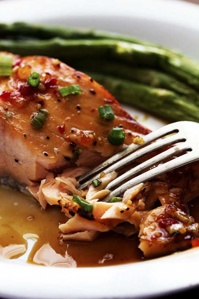 Salmon in sweet chili sauce