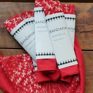 *SOLD OUT*Bandana- The Warriors DIXON RAND x 1451 Special Edition Red