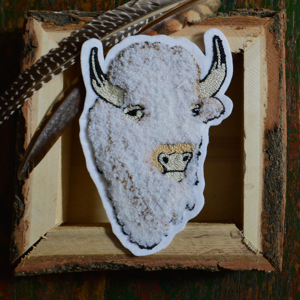 Chain Stitch Patch- Sacred White Bison