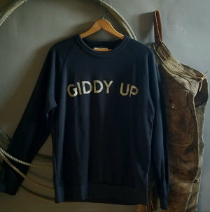 Sweatshirt- Giddy Up Stencil