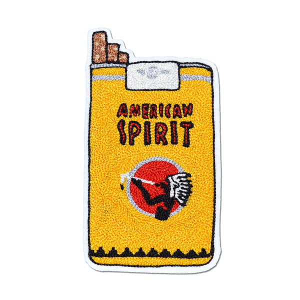 Chain Stitch Patch- American Spirit Cigarette Pack