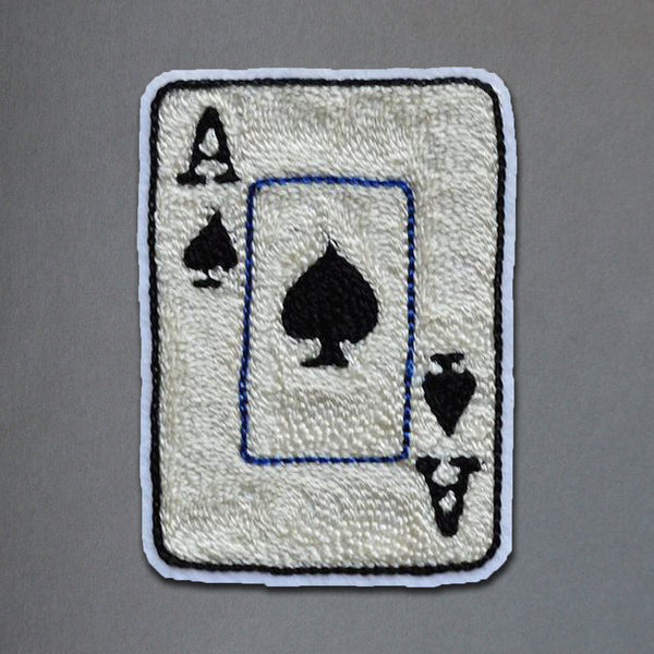 Chain Stitch Patch- Ace of Spades
