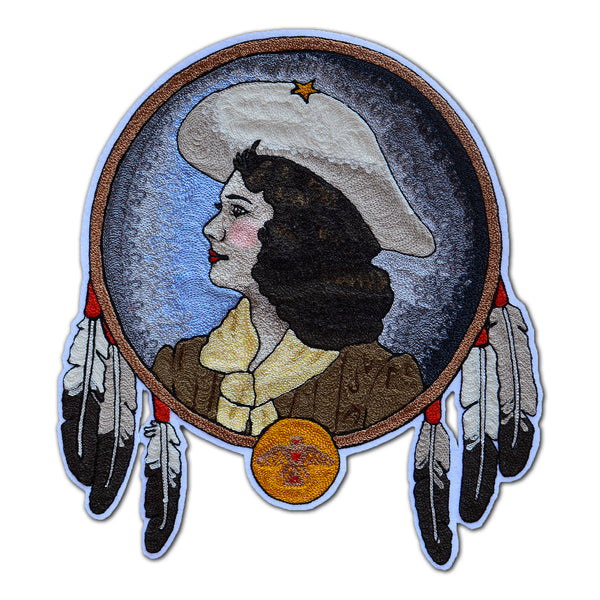 Chain Stitch Patch- Annie Oakley Portrait