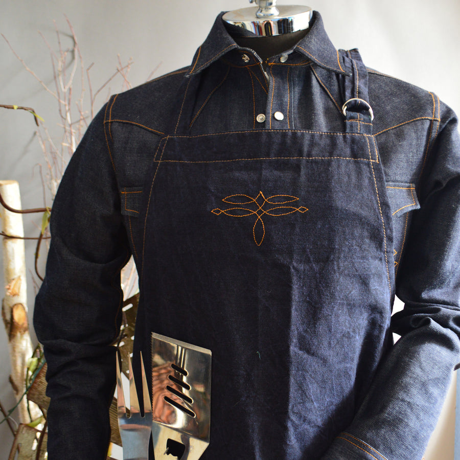 Apron- Indigo Denim Kitchen/Work Apron