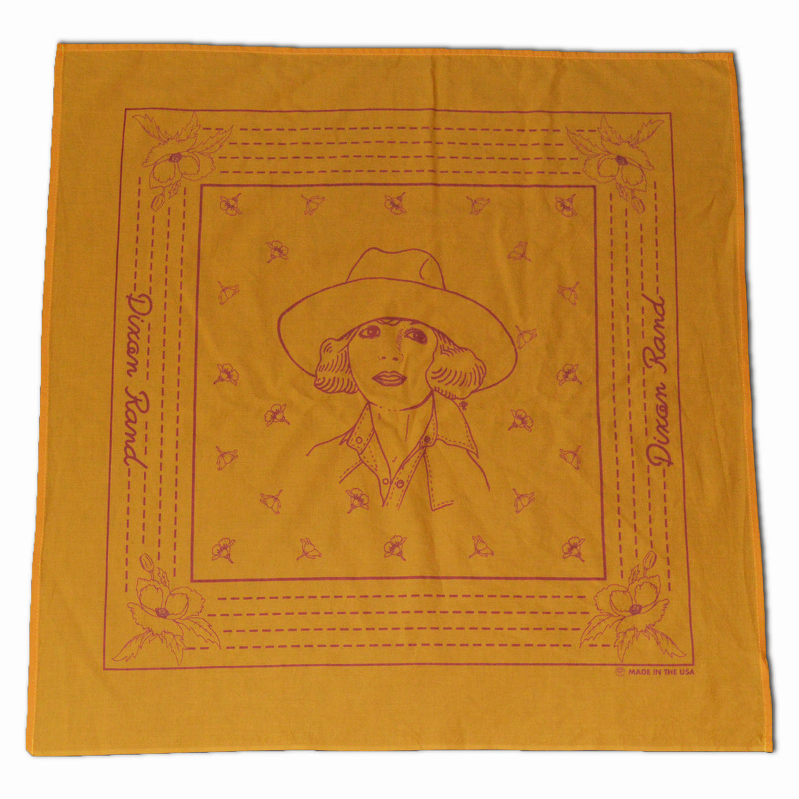 Bandana- Botanical Cowgirl (Gold)