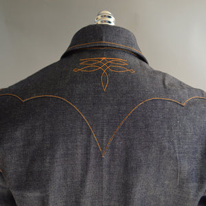The Rambler- Men's Bootstitched Selvedge Denim Western Shirt