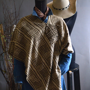Serape- Checkerboard Bogolan Mudcloth with Handstitched Accents
