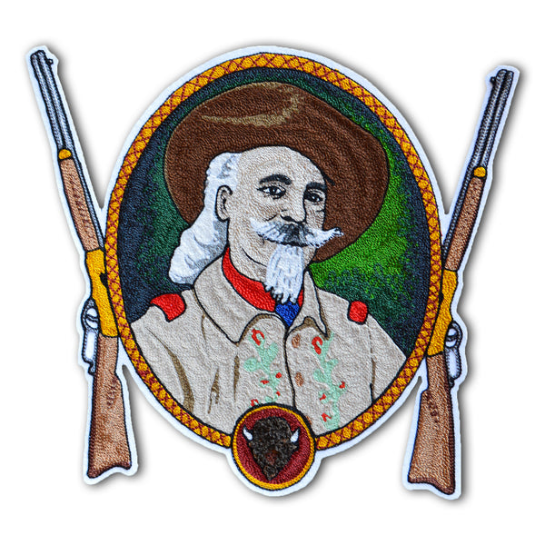 Chain Stitch Patch- Buffalo Bill Portrait