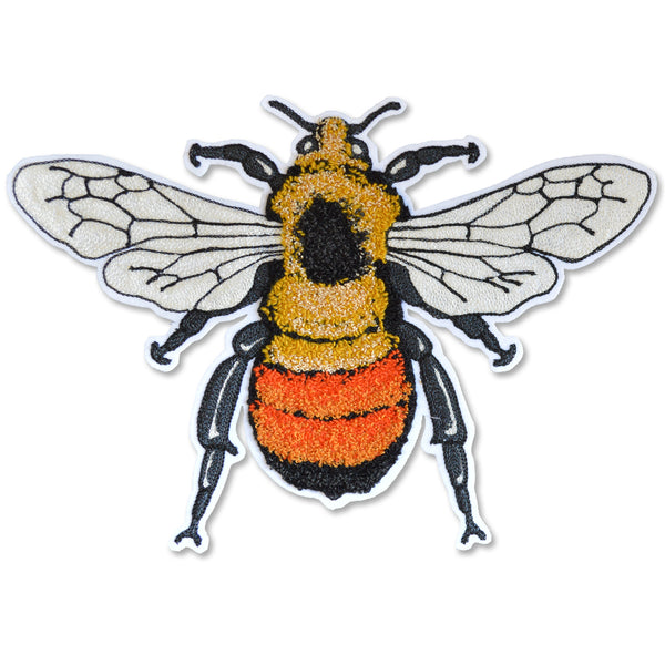Chain Stitch Patch- Large Blacktail BumbleBee